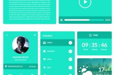 Umbrella Flat Green UI UX Pack