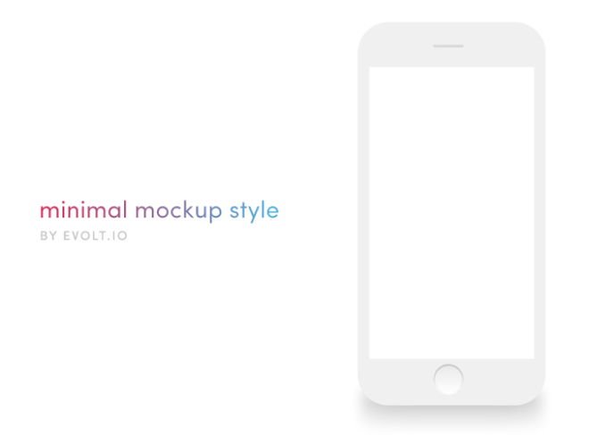 Minimal Flat iPhone 6S Mockup Vector