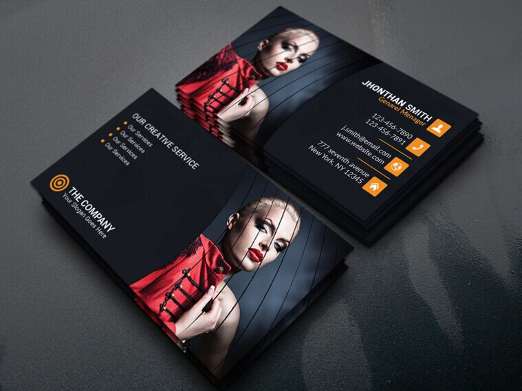 Free dark fashion business card template psd titanui dark fashion business card template psd accmission Image collections