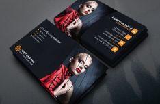 Dark Fashion Business Card Template PSD