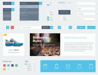 Minimal Flat Shopping UI Kit PSD