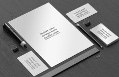 Black and White Office Branding Mockup PSD