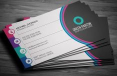 Flat Colorful Corporate Business Card Template Vector