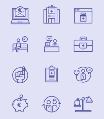 12 Healthcare Line Icons (AI+PSD)