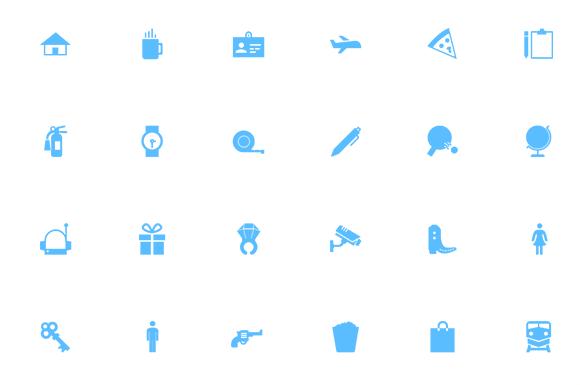 Minimal Material Design Icon Set Vector