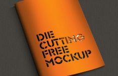 Die Cutting Brochure Mockup PSD
