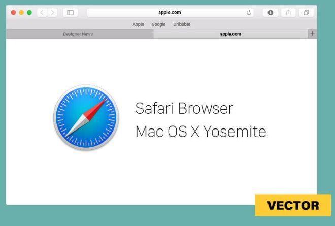 Safari For Mac OS X Vector Template
