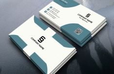 Realistic Corporate Business Card Design PSD