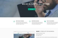 MADE Business Website Template PSD