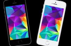 iPhone SE PSD Mockup