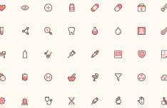 Small Colored Health Icon Set Vector