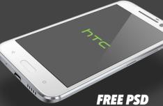 HTC 10 PSD Mockup