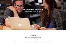 OneCloud - Elegant One Page Template PSD