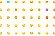 40 Minimal Emoji Icons (Vector+SVG+PNG)