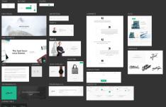 Minimal Google Material Design UI Kit PSD