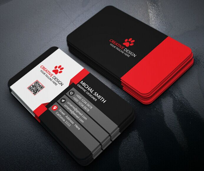 Free modern corporate business card design psd titanui for Corporate business card designs