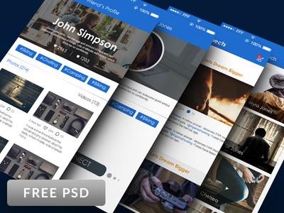Social Network UI Kit PSD
