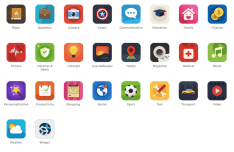 Flat Appstore Category Icons
