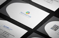 Grey Corporate Business Card Vector Template