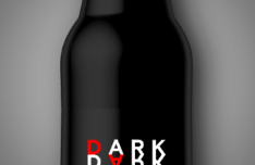 Dark Beer Bottle Mockup PSD