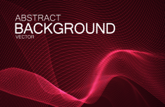 3D Abstract Lines Vector Background #3