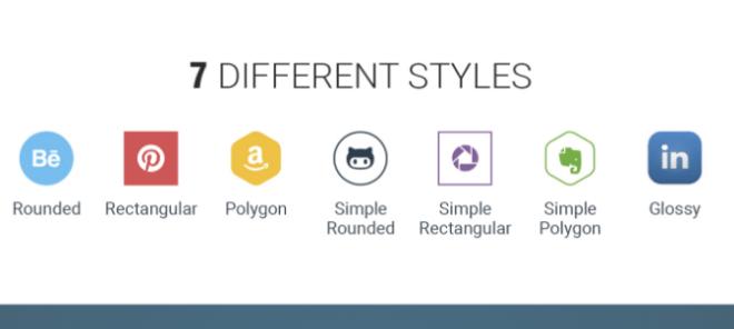 250+ Vector Social Media Icons (7 Styles)