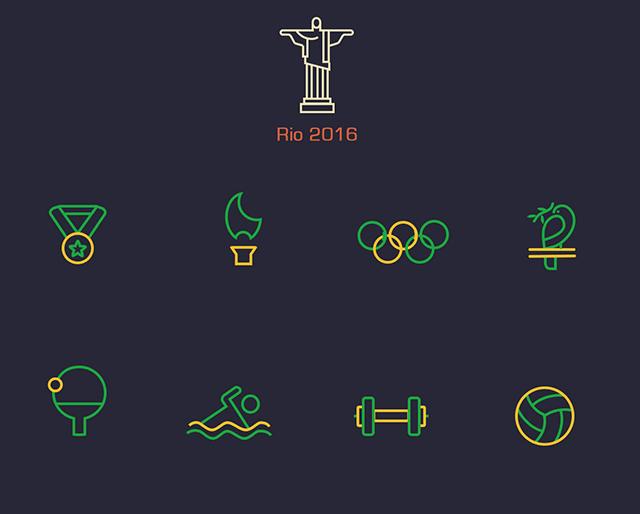 Rio 2016 Summer Olympics Icons PSD