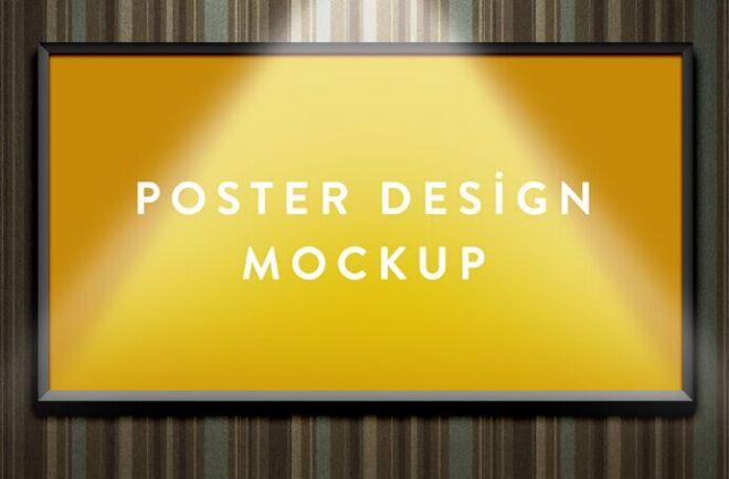 Wall Poster PSD Mockup