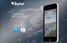 Single Page Mobile App Web Template PSD
