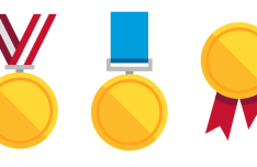Flat Medal Icons Vector