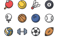 12 Sports Vector Icons