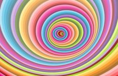 Colorful Spiral Vector Background #8