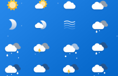 16 Cool Weather Icons PSD