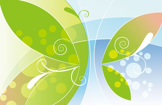 Abstract Butterfly Vector Background #1