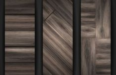 sleek-dark-brown-wooden-banners-vector