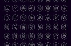 48-hexagon-social-icons-vector