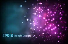 Shining Lights Bokeh Vector Background #1