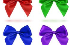 sleek-satin-ribbon-bow-vector-set-2