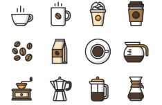 12-vector-coffee-icons