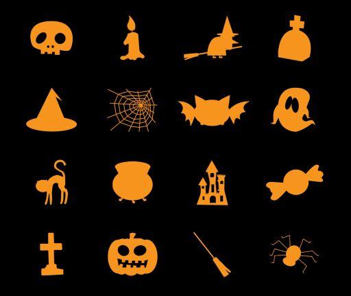 Free 30 halloween icons psd titanui for Halloween psd