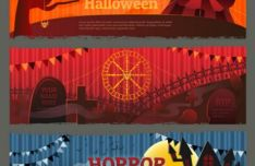 3-happy-halloween-vector-banner-templates