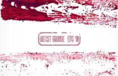 red-grunge-brush-vector