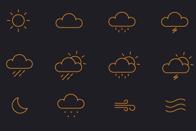 12-minimal-vector-weather-icons
