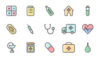 15-colored-outlined-medical-icons-vector