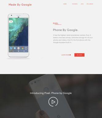 google-pixel-landing-page-template-psd