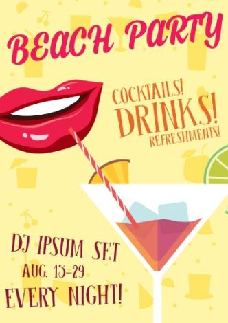 vintage-beach-party-vector-poster