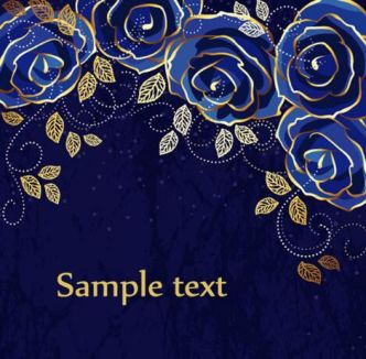 blue-rose-vector-background