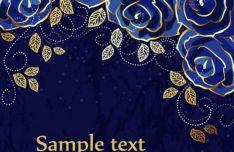 blue-rose-vector-background