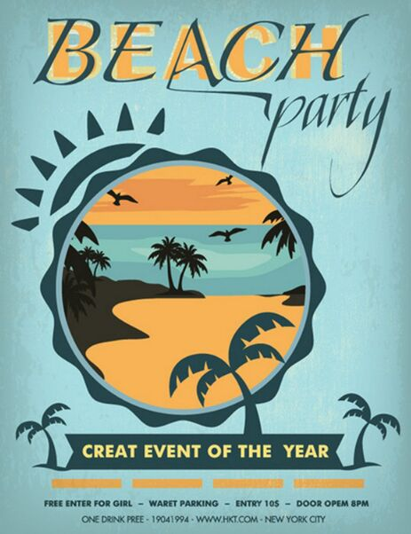 vintage-blue-beach-party-flyer-vector-template