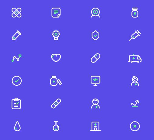 24-outlined-medical-icons-vector